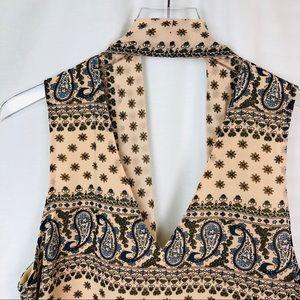 ENTRO open back 10 button transition dress vest